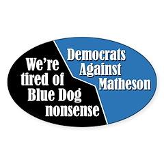 Democrats Against Jim Matheson bumper sticker