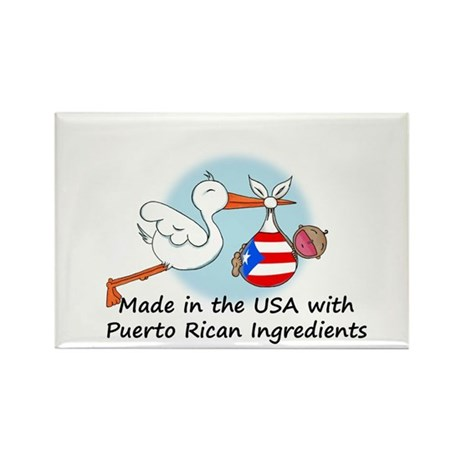 Stork Baby Puerto Rico USA Rectangle Magnet