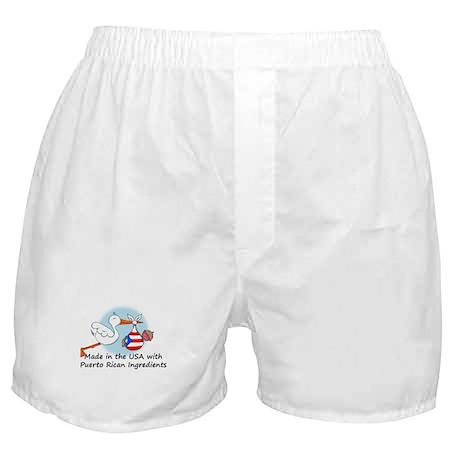 Stork Baby Puerto Rico USA Boxer Shorts