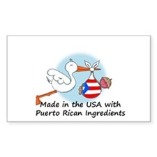 Stork Baby Puerto Rico USA Decal