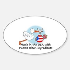 Stork Baby Puerto Rico USA Sticker (Oval)