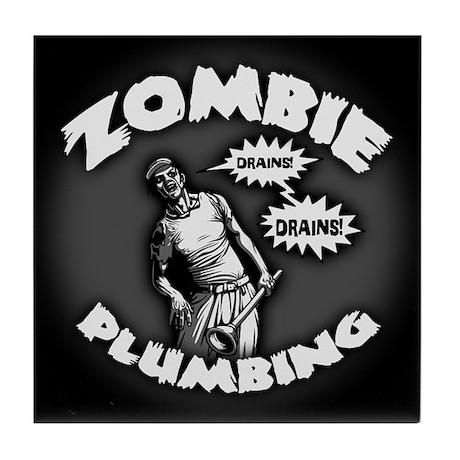 Zombie Plumbing Tile Coaster
