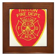 Fallon Fire Department Framed Tile