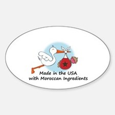 Stork Baby Morocco USA Decal