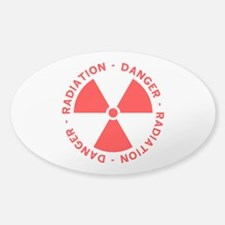 Red Radiation Warning Decal