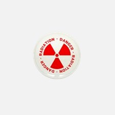 Red Radiation Warning Mini Button (10 pack)