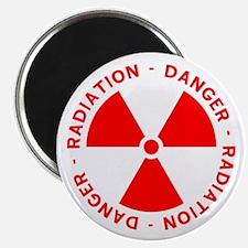 Red Radiation Warning Magnet