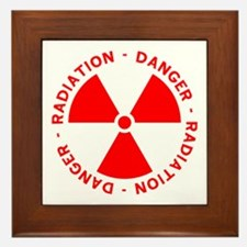 Red Radiation Warning Framed Tile