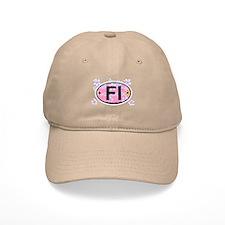 Fire Island - Oval Design Baseball Cap