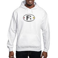 Fire Island - Oval Design Hoodie Sweatshirt
