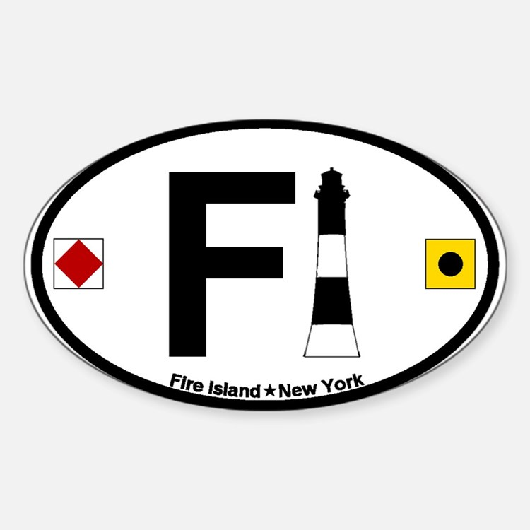 Fire Island - Oval Design Sticker (Oval)