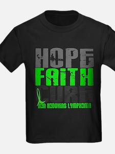 Hope Faith Cure NH Lymphoma T-Shirt