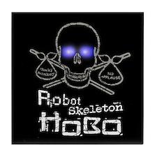 Robot Skeleton Hobo Tile Coaster