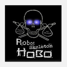 Robot Skeleton Hobo Tile Coaster