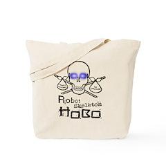 Robot Skeleton Hobo Tote Bag