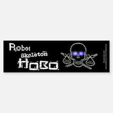 Robot Skeleton Hobo Bumper Bumper Sticker