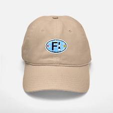 Fire Island - Oval Design Baseball Baseball Cap