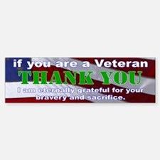 Thank you Veterans Bumper Bumper Sticker Bumper Bumper Sticker