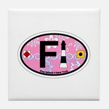Fire Island - Oval Design Tile Coaster