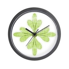 Green Flower Wall Clock