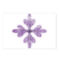 Purple Flower Postcards (Package of 8)