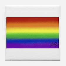 GAY RAINBOW art Tile Coaster