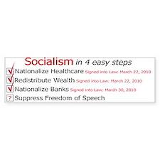 Socialism Bumper Sticker Bumper Sticker