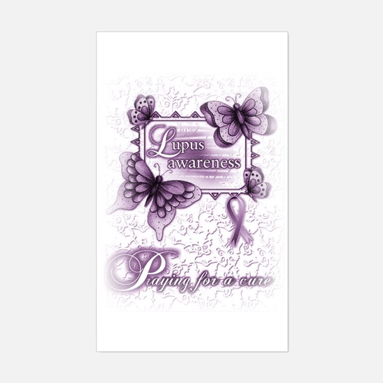 Lupus ~ Praying for a Cure Sticker (Rectangle)