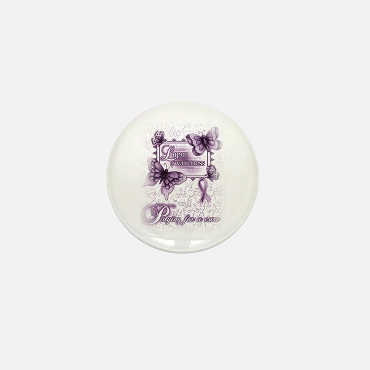 Lupus ~ Praying for a Cure Mini Button (10 pack)