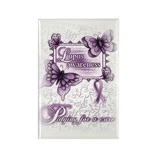 Lupus ~ Praying for a Cure Rectangle Magnet