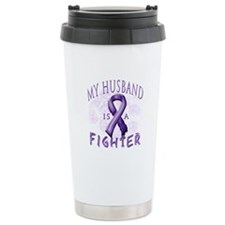 My Husband Is A Fighter Travel Mug