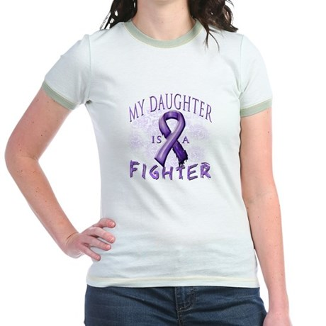 My Daughter Is A Fighter Jr. Ringer T-Shirt