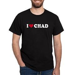 I Love CHAD - Black T-Shirt