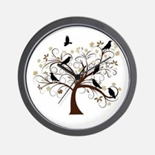 The Raven's Tree Wall Clock