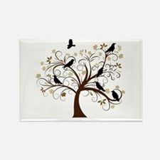 The Raven's Tree Rectangle Magnet