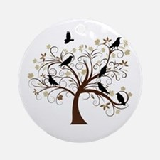 The Raven's Tree Ornament (Round)