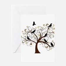 The Raven's Tree Greeting Card