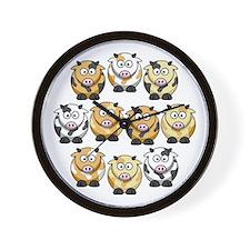 10 Cow Wall Clock