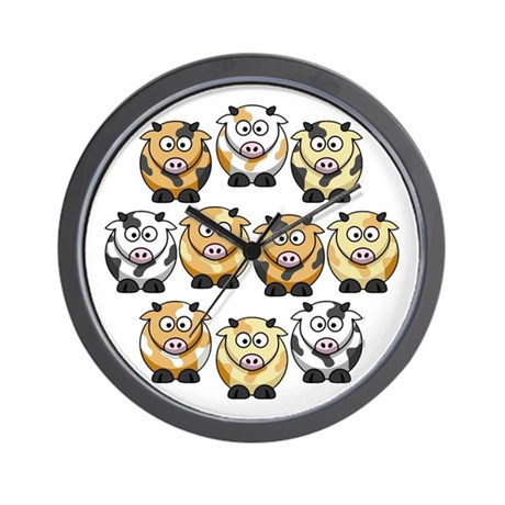 10 Cow Wall Clock