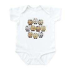 10 Cow Infant Bodysuit