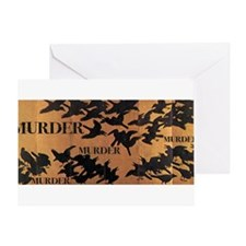 Murder of Ravens Greeting Card