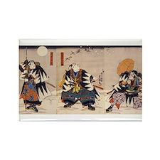 Samurai Warriors Rectangle Magnet