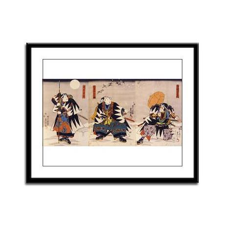 Samurai Warriors Framed Panel Print