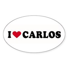 I LOVE CARLOS ~ Oval Decal