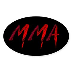 MMA Sticker (Oval 10 pk)