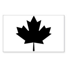 Black Maple Leaf Decal