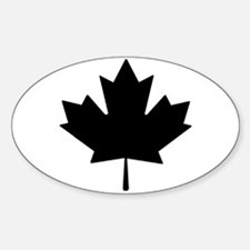 Black Maple Leaf Decal