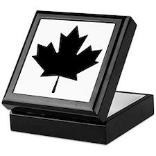 Black Maple Leaf Keepsake Box