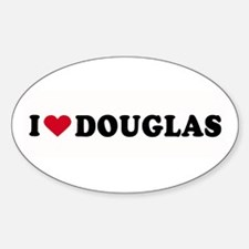 I LOVE DOUGLAS ~ Oval Decal