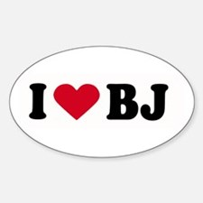 I LOVE BJ ~ Oval Decal